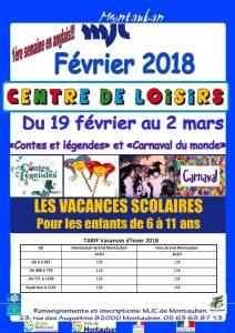 Accueil de Loisirs Vacances vacances d'hiver 2018