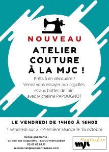 NOUVEAU : atelier couture