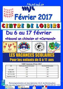 Accueil de Loisirs Vacances février 2017