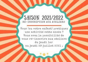 Ré-inscriptions 2021-2022